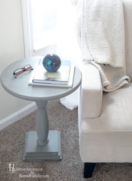 DIY Pedestal End Table