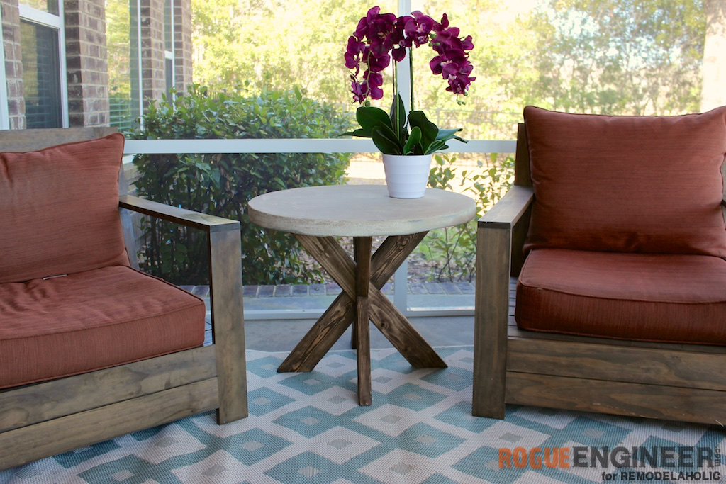 Build It: X-Brace Concrete Side Table