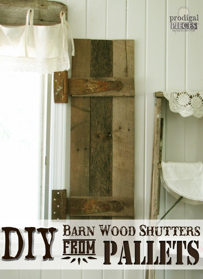 Remodelaholic diy rustic farmhouse bench tutorial for How to make shutters from pallets