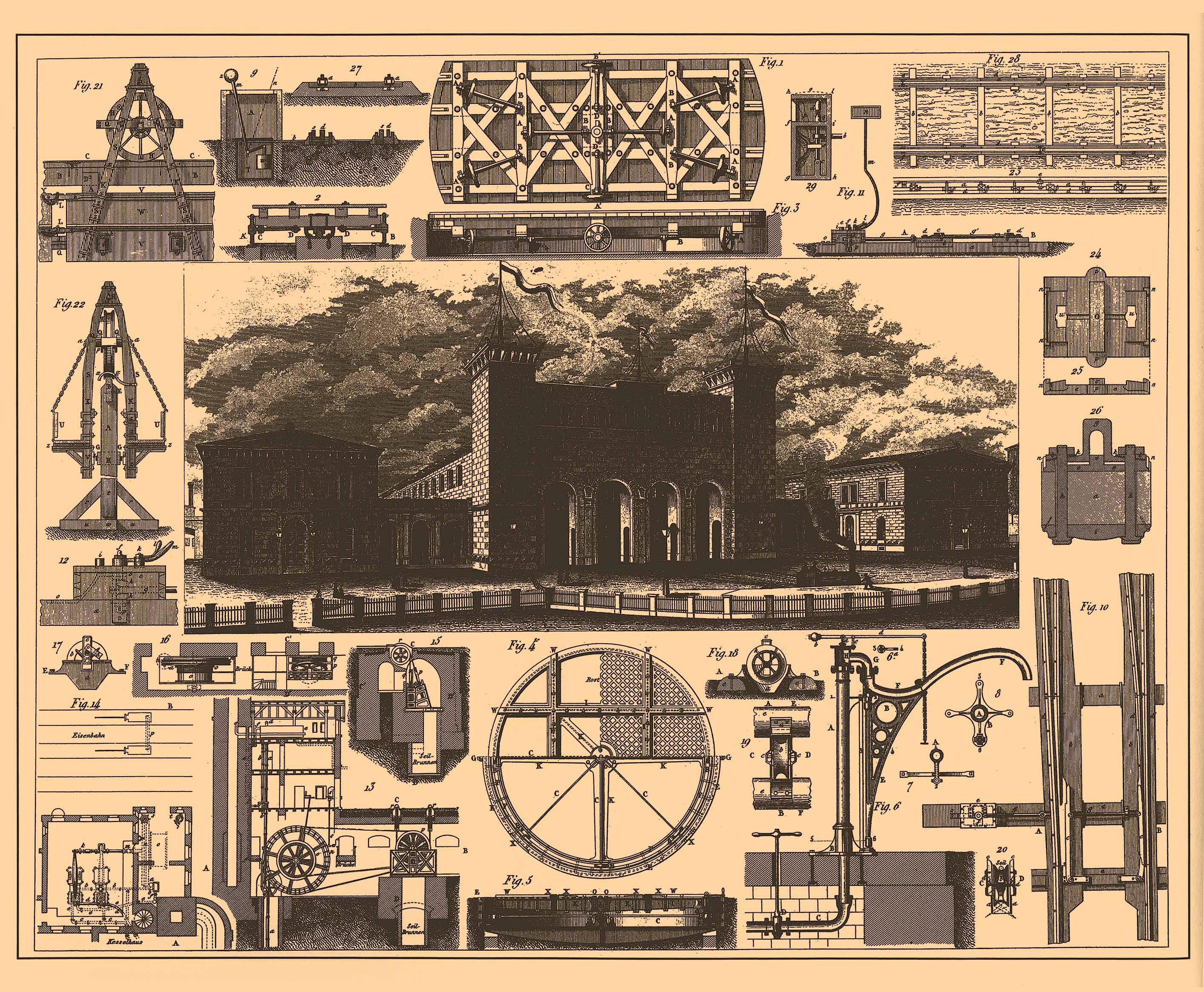 Remodelaholic 20 free vintage printable blueprints and for Print architectural drawings