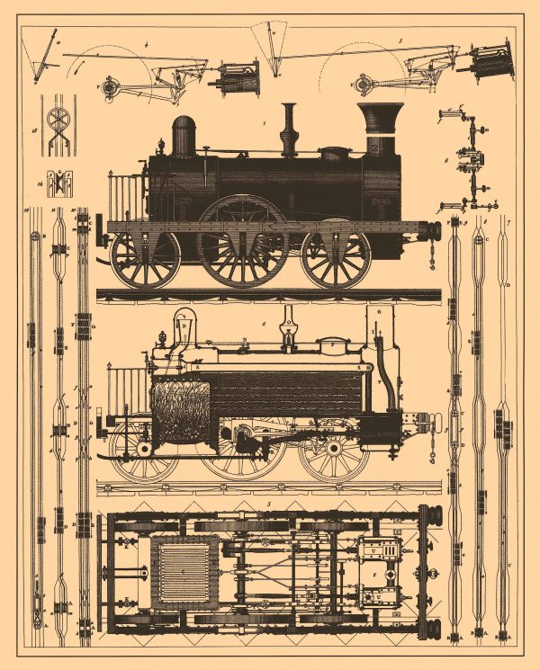 20+ Free Vintage Printable Blueprints and Diagrams