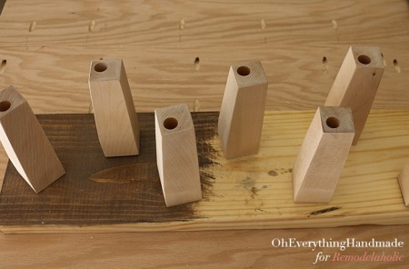 Ikea Karlstad Tapered leg - stain and finishing station