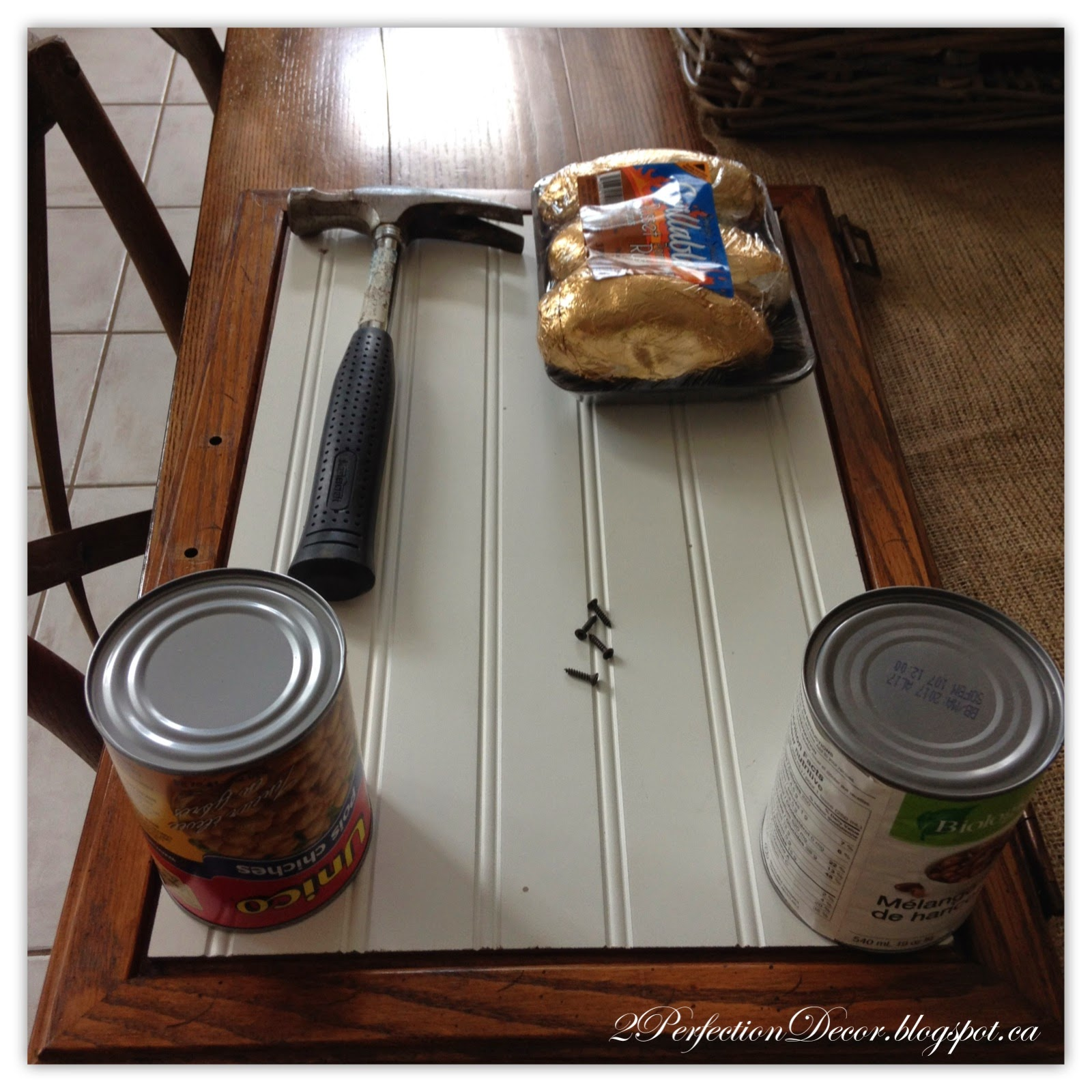 Inspirational Kitchen island with beadboard tutorial by Perfection Decor featured on Remodelaholic