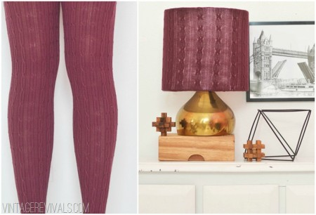 Lampshade makeover with tights 18