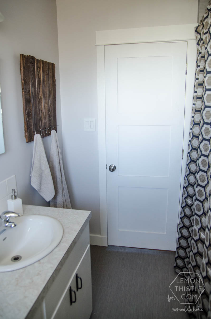 Remodelaholic diy bathroom remodel on a budget and for Bathroom remodel 2015