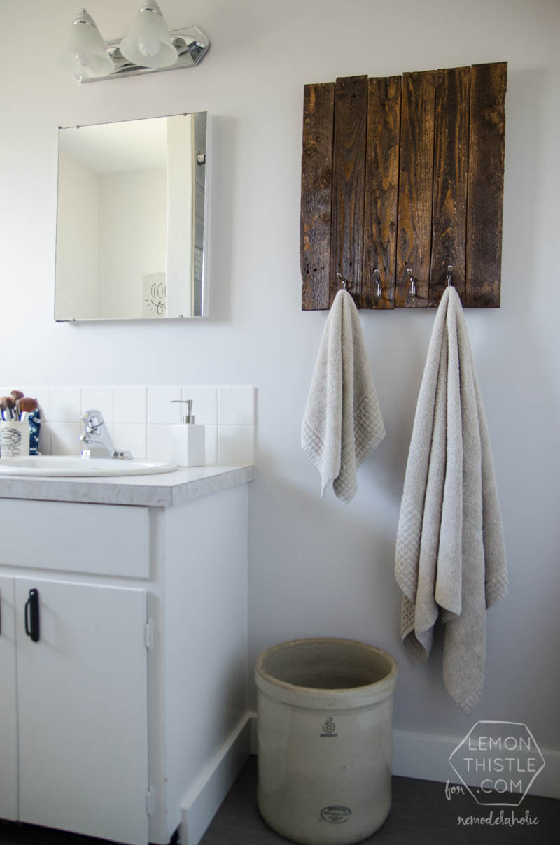 remodelaholic diy bathroom remodel on a budget and thoughts on - Low Budget Bathroom Remodel