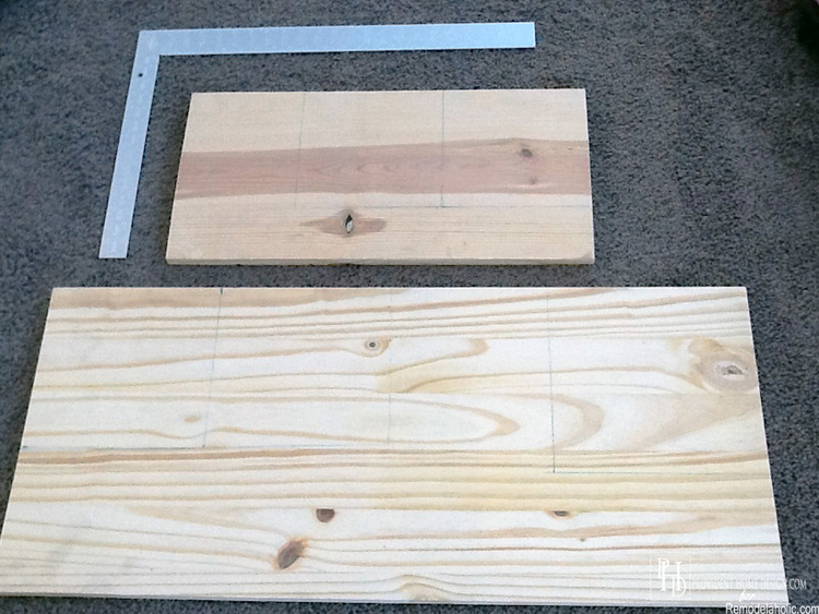 Measure and Cut Wood for Accent Table