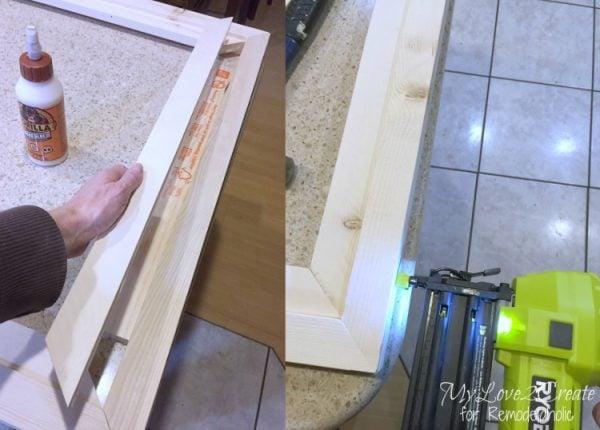 inside frame trim short side