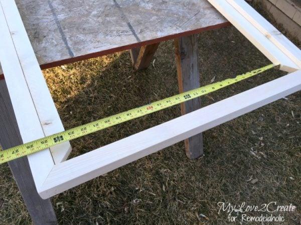 measuring for inside 1x2 end trim piece