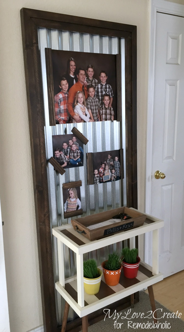 Corrugated Metal Framed Photo Board