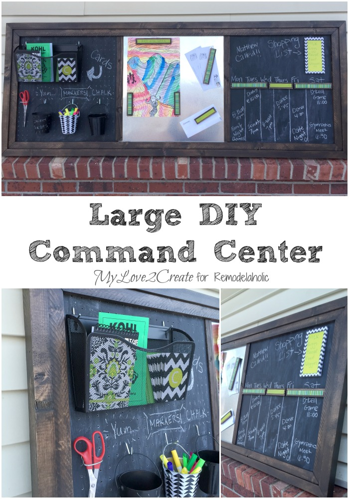 Ready to get organized? Make this DIY command center with a magnet board and pegboard for easy family organization!