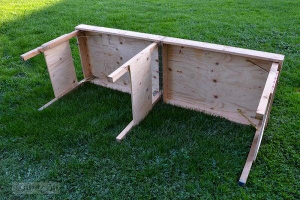 outdoor workshop folding workbench