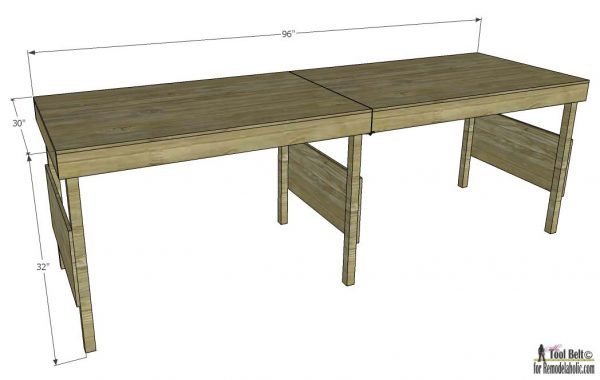 Portable Workbench Overall Dimensions