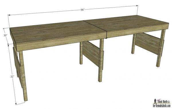 Bon How To Build A DIY Portable Workbench Or Folding Table