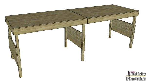 DIY portable folding workbench plans or large table for an outdoor wedding