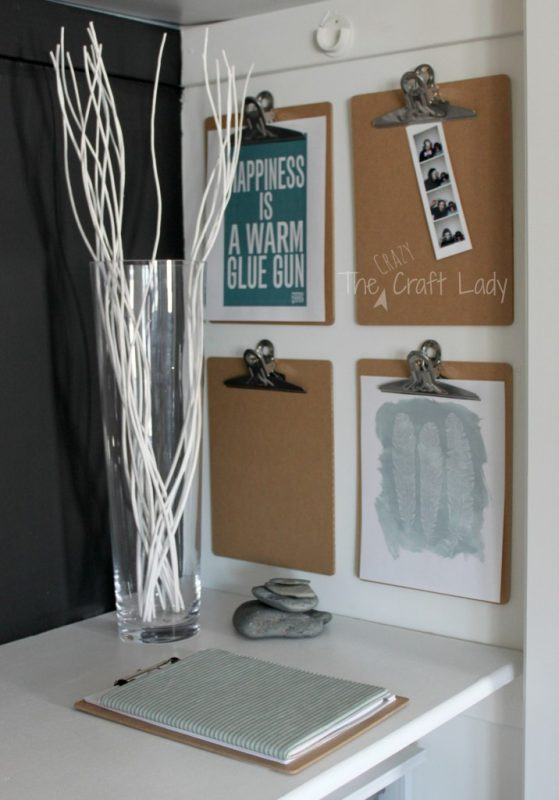 Stylish closet office and craft storage - The Crazy Craft Lady featured on @Remodelaholic