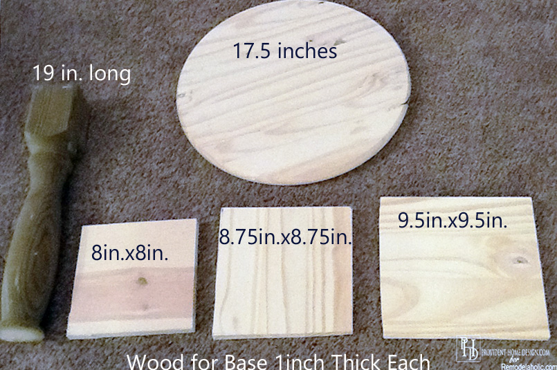 Supplies for DIY Pedestal Accent Table