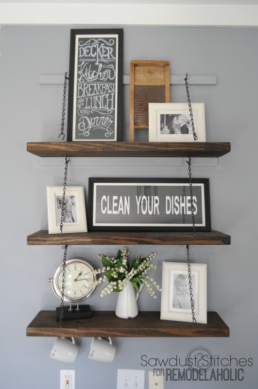 Suspended Shelving Sawdust2stitches for Remodelaholic