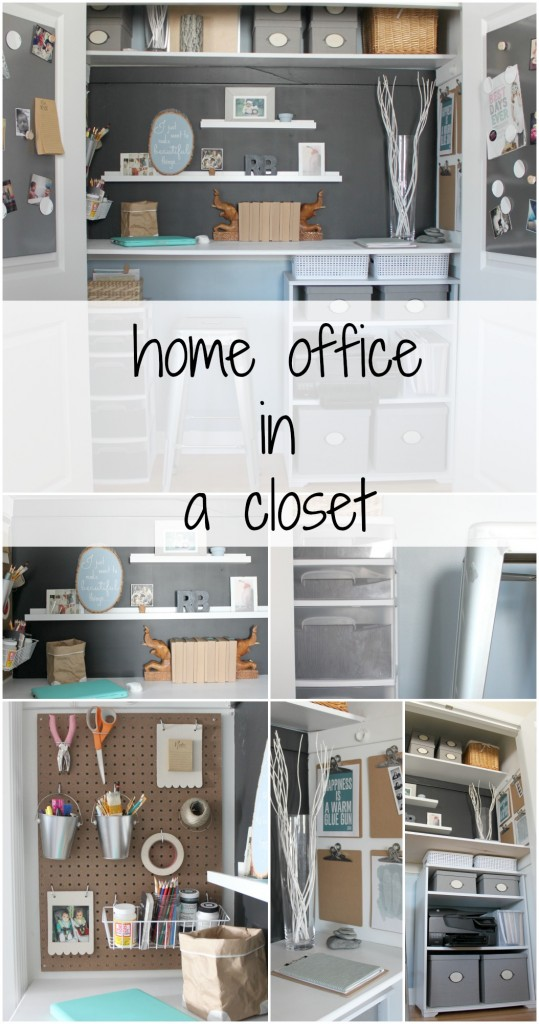 Remodelaholic making an organized closet office craft space for Transform small closet space