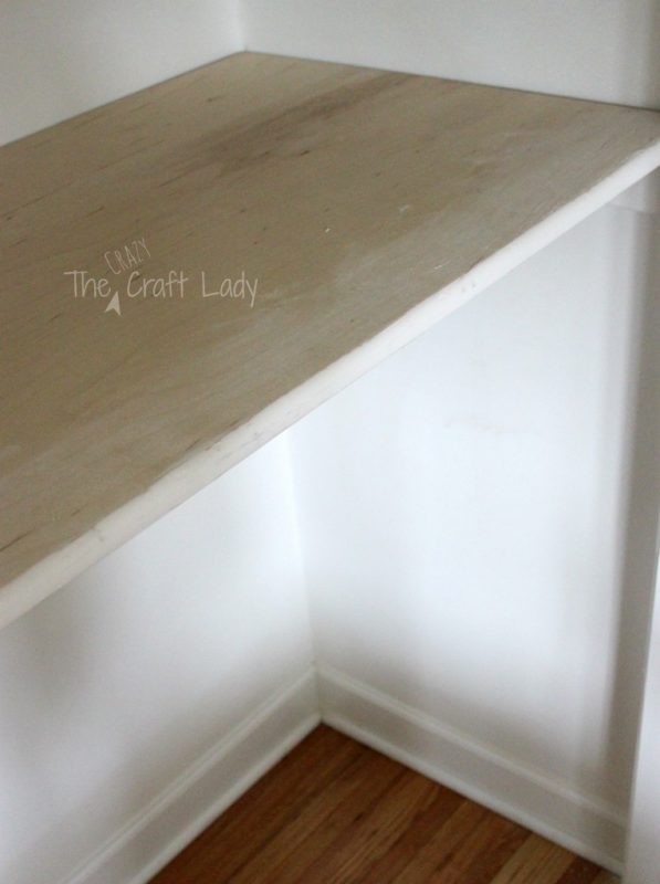 Transform a closet into a home office process2 - The Crazy Craft Lady featured on @Remodelaholic