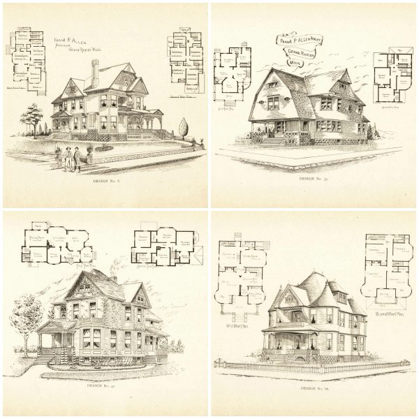 Remodelaholic 20 free vintage printable blueprints and for Victorian home construction