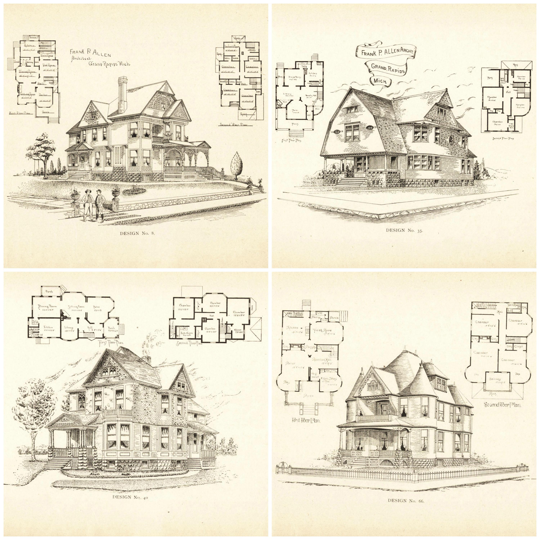Remodelaholic 20 free vintage printable blueprints and for Building blueprints free
