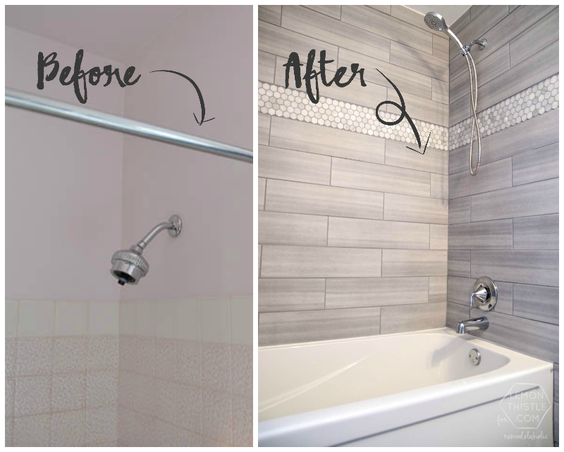 Remodelaholic diy bathroom remodel on a budget and for Diy master bathroom ideas