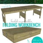 Build A Portable Folding Workbench Table, Foldable And Storable Workbench Plans, Remodelaholic