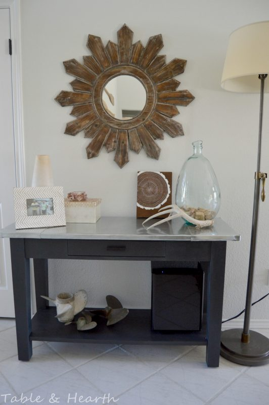 diy metal table top tutorial - Table and Hearth featured on @Remodelaholic (10)