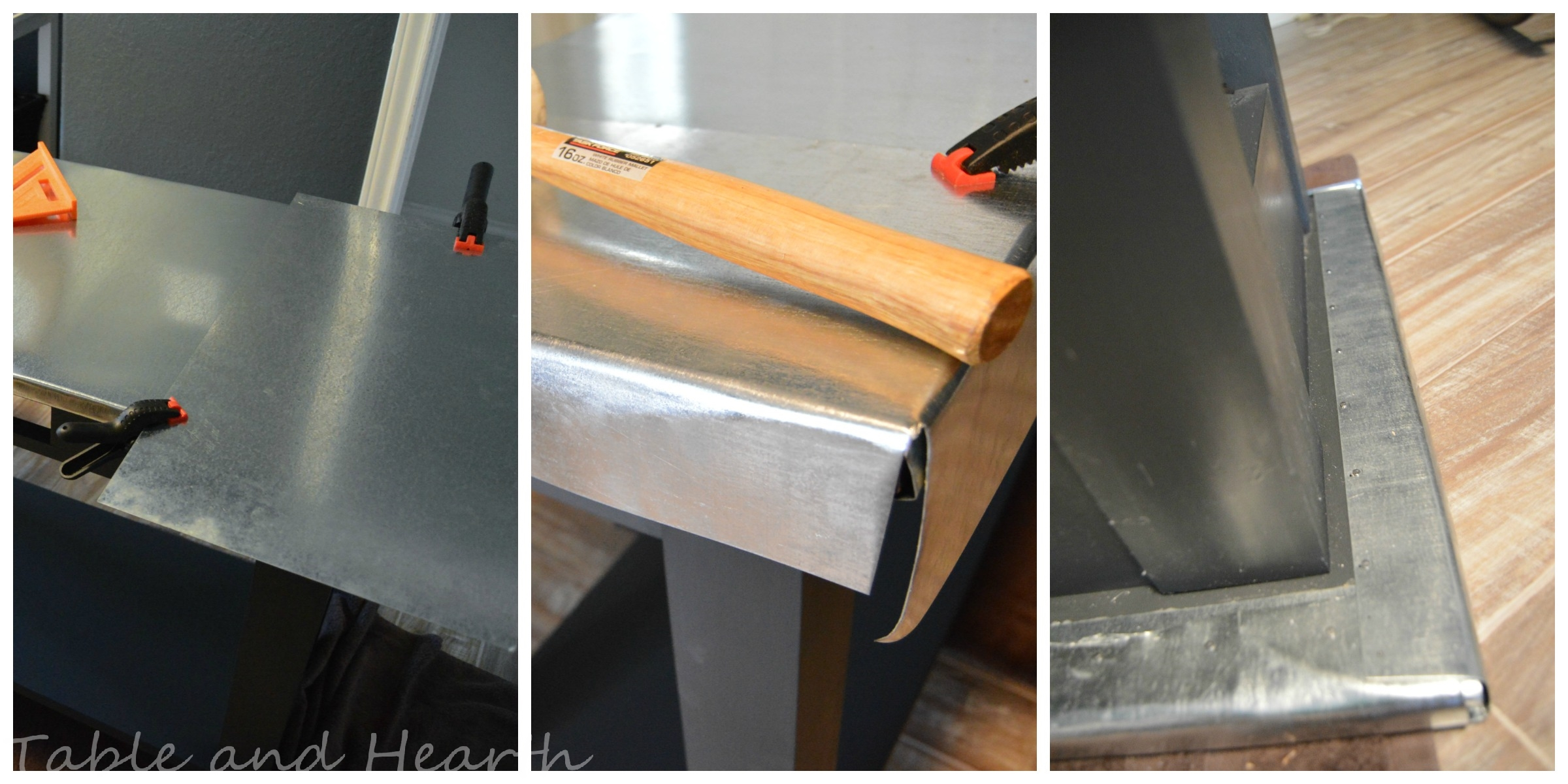 Remodelaholic | DIY Metal Table Top Tutorial