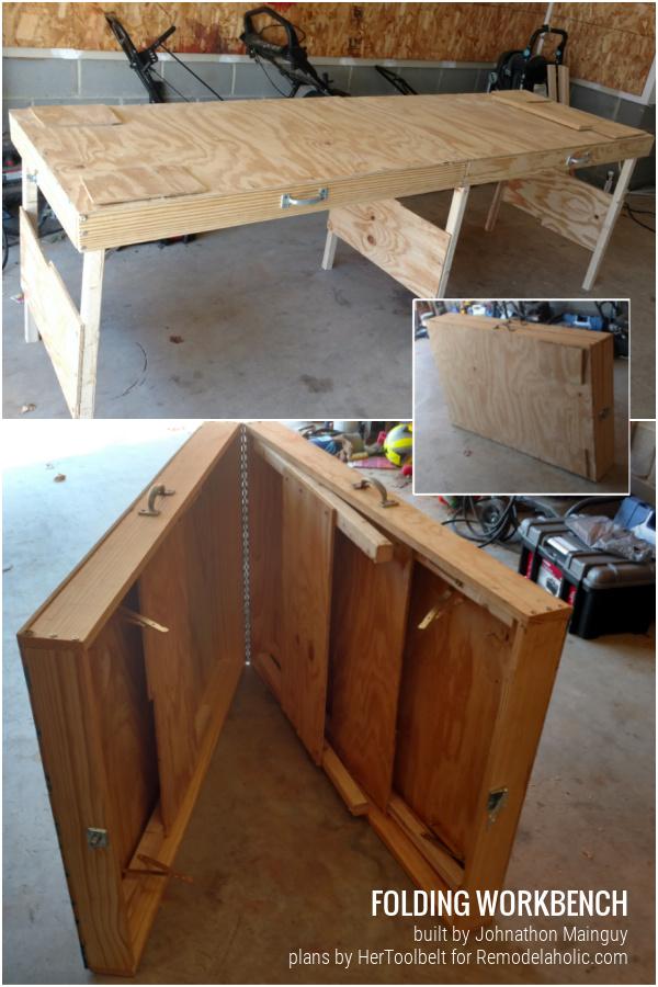 Diy Portable Folding Workbench Plans Remodelaholic