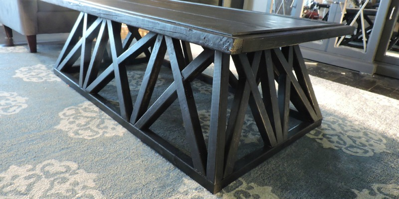 feature Restoration Hardware knockoff trestle door table @Remodelaholic