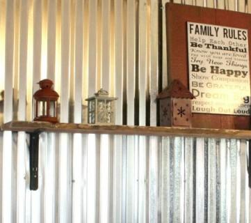 DIY Corrugated Tin Wall Tutorial