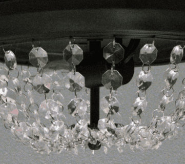 Update a Dome Ceiling Light with Faceted Crystals