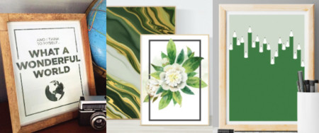 Green Printables For Gallery Walls Or St. Patrick's Day Mantel, Remodelaholic