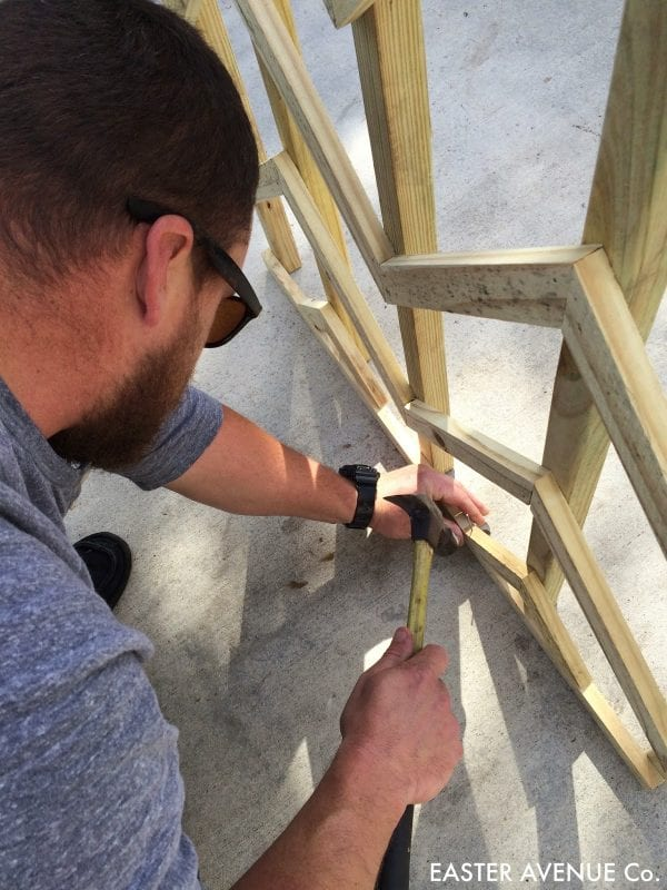 how to build a chevron lattice for garden plants, step 21 - Easter Avenue Co on @Remodelaholic