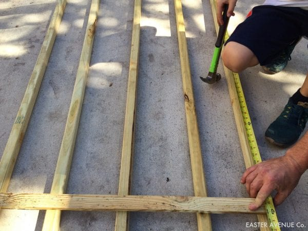 how to build a chevron lattice for garden plants, step 4 - Easter Avenue Co on @Remodelaholic