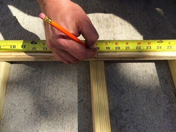 how to build a chevron lattice for garden plants, step 5 - Easter Avenue Co on @Remodelaholic