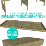 How To Build Your Own DIY Portable Folding Workbench Plans Remodelaholic