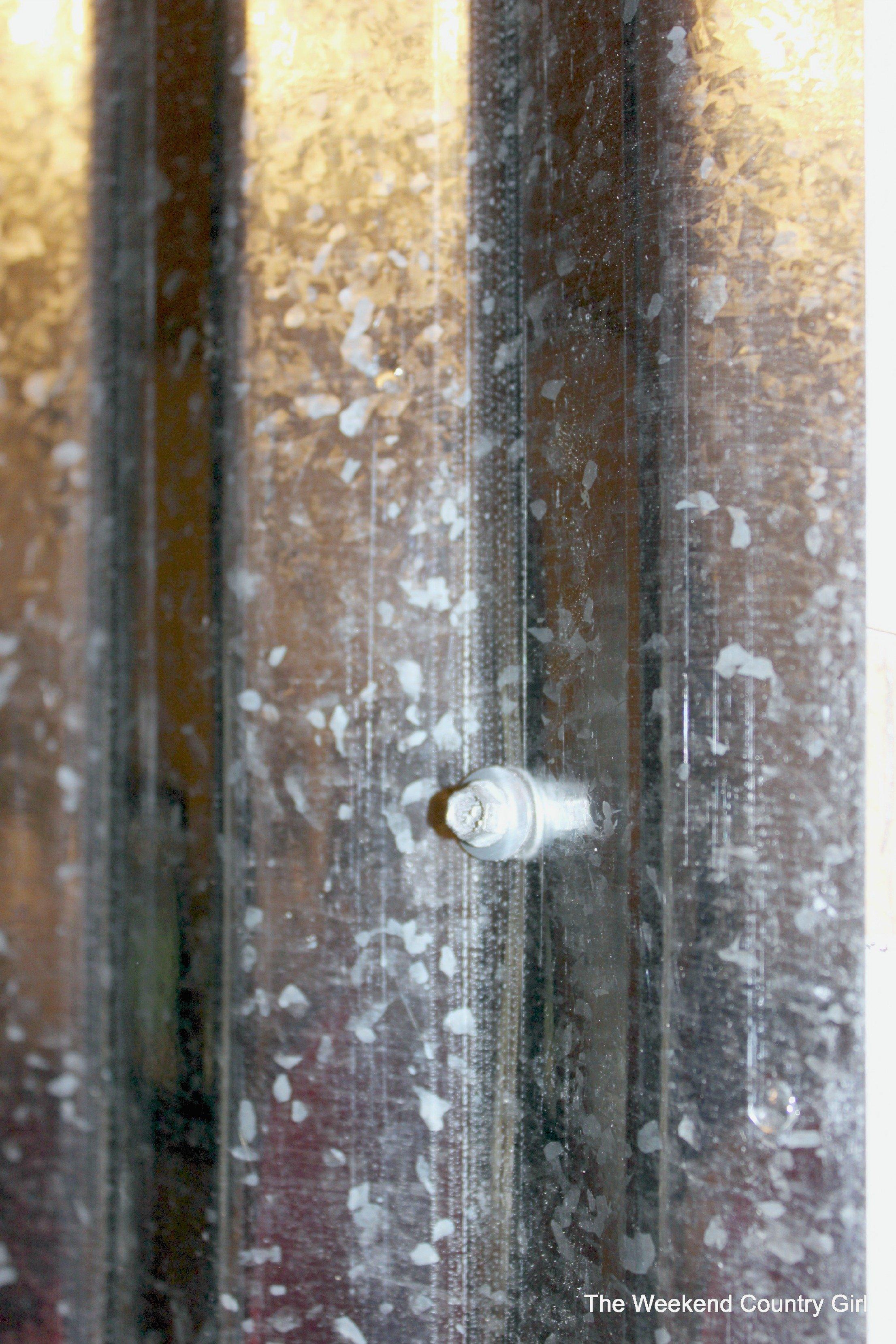 Metal Sheeting For Walls remodelaholic | diy corrugated tin wall tutorial