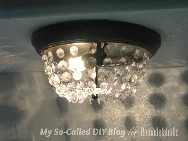 Faceted Glass Vanity Light: Update A Dome Ceiling Light With Faceted