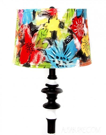 painted shade lamp revamp 20