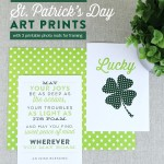 Printable St Patrick's Day Wall Art, Irish Blessing And Lucky With Printable Photo Mats, Enchanted Prints For Remodelaholic