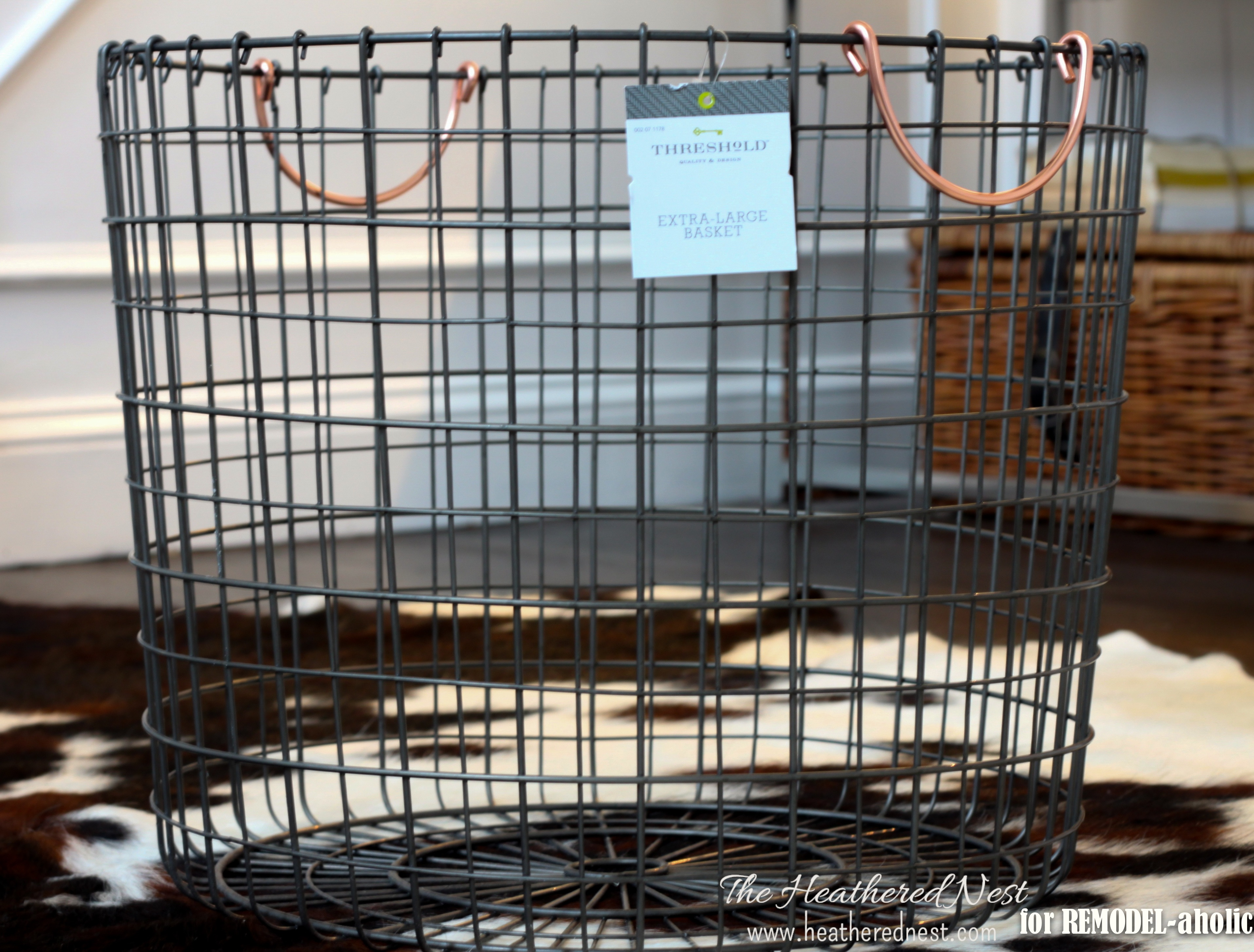 Rolling Wire Basket How To   The Heathered Nest On @Remodelaholic