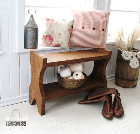 DIY Farmhouse Bench Tutorial by Prodigal Pieces for Remodelaholic