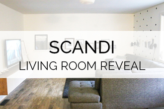 3 wall, 3 DIY's. Petite Modern Life's simple Scandi Living Room Reveal is so clever and cozy!