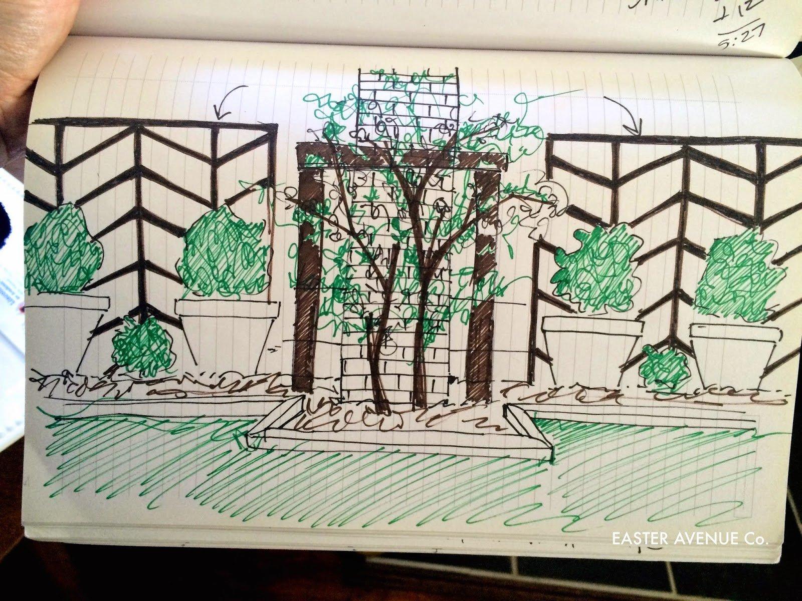 remodelaholic diy chevron lattice trellis tutorial sketched diy chevron lattice to add height to a garden easter avenue co on