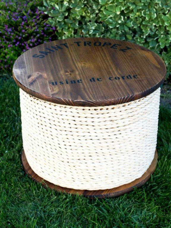 spool side table knockoff