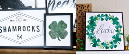 St Patrick's Day Printable Shamrock Decorations Wall Art Remodelaholic