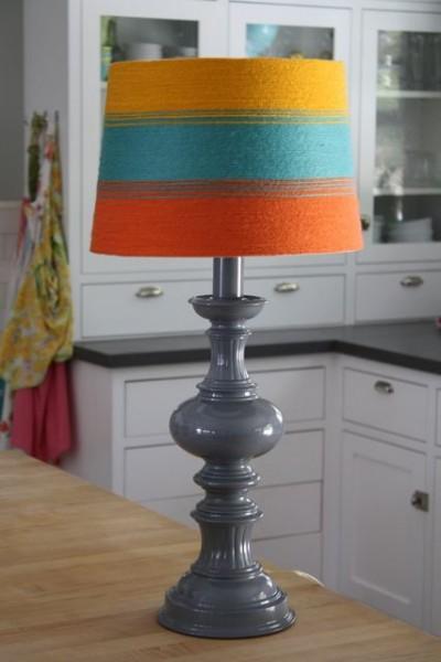 yarn striped lampshade 14